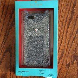 KATE SPADE Glitter Cat iPhone 6 6S Case NWT